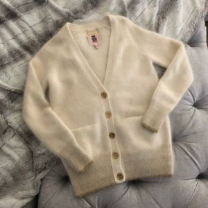 Juicy Couture mohair/ angora cardigan size S